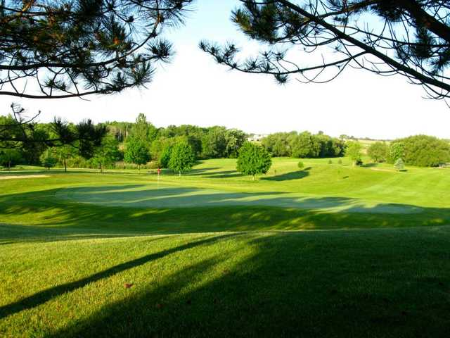 A sunny day view of a hole at Horicon Hills Golf Club.