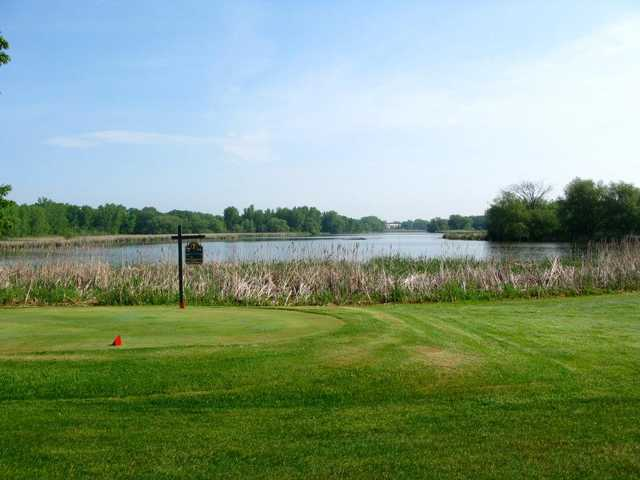 A view of tee #7 at Horicon Hills Golf Club.