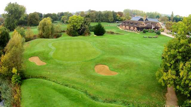 View of a green at Cambridge Meridian Golf Club