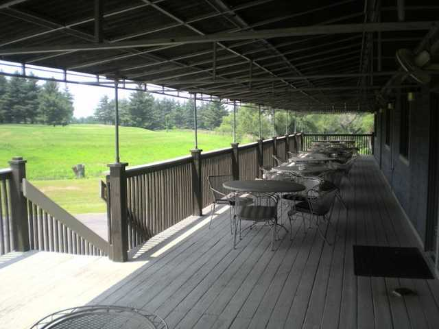 A view from the clubhouse patio at Pickaway Country Club