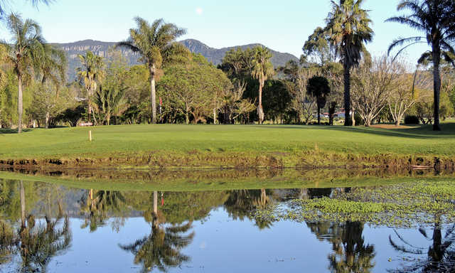 View of a green at Jamberoo Golf Club