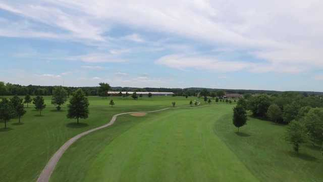 View of the 9th hole at St. Genevieve Golf Course