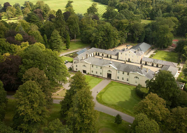 Aerial view from Luton Hoo Hotel, Golf, & Spa