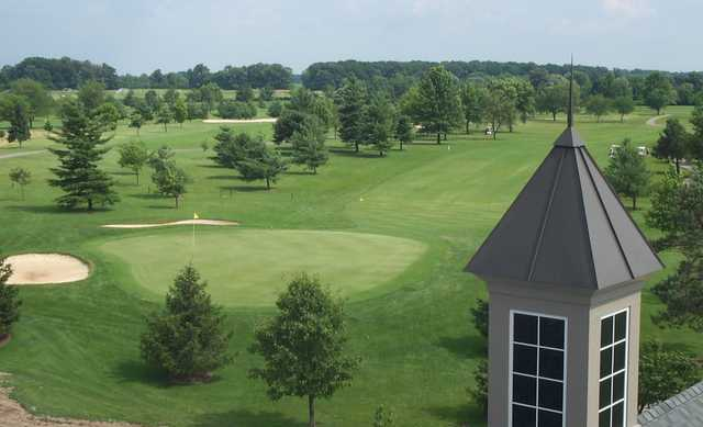 A view of green at Mentel Memorial Golf Course