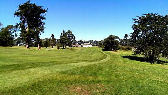 A view of a fairway at Pajaro Valley Golf Club.