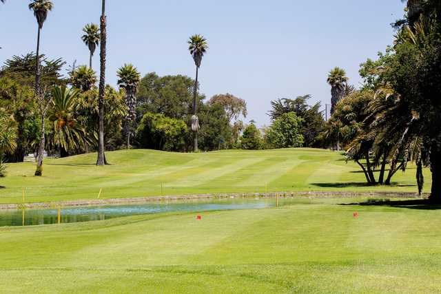 A view of the red tee at Salinas Fairways Golf Course.