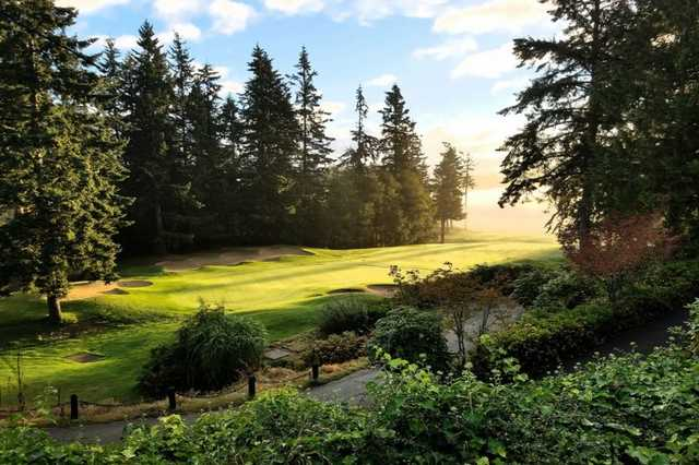 A view of the 9th hole at Port Ludlow Golf Resort (Josh Austin).