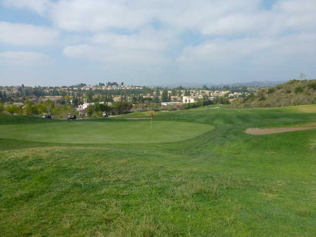 A sunny day view of a hole at Westridge Golf Club.