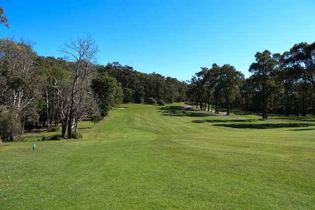 View of the 10th fairway and green from the Hills Course at Beaconhills Country Golf Club