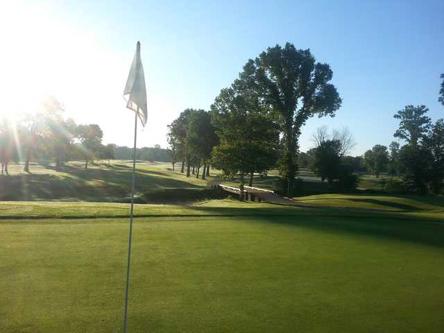 A view from a green at Bent Tree Golf Club.