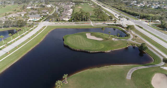 View of the 14th hole from Viera East Golf Club