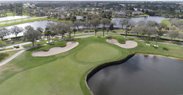 View of the 18th hole from Viera East Golf Club