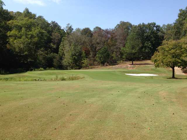 A view of hole #5 from The Creek At Hard Labor State Park.
