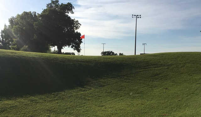 A view of a green at Sapulpa Golf Course.