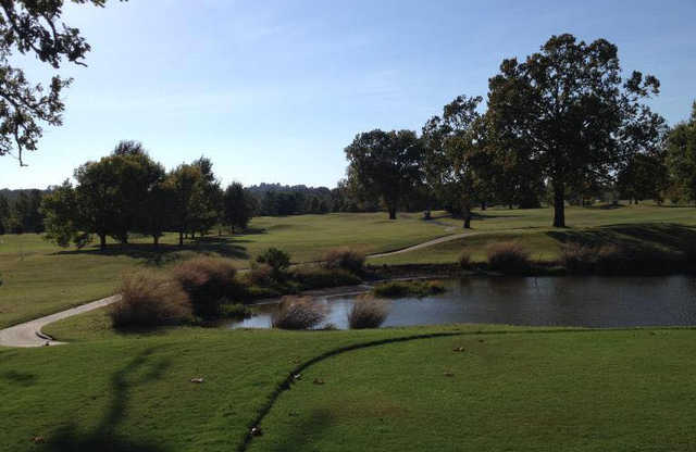 A view from a tee at Sapulpa Golf Course.