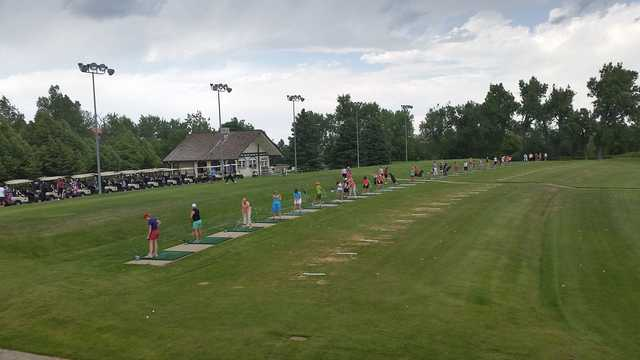 A view of the driving range from Greg Mastriona Golf Courses at Hyland Hills.