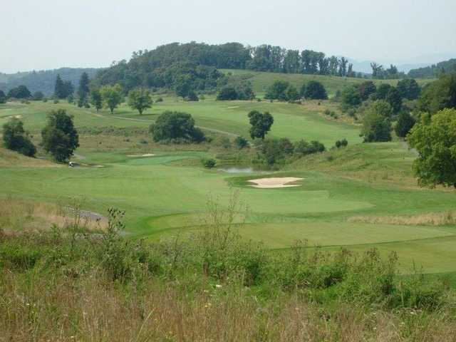 A view of tee #13 at Rocky Gap Casino Resort.