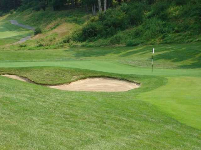 A view of hole #8 at Rocky Gap Casino Resort.
