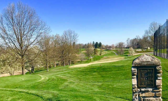 A view from tee #1 at Devou Park Golf Course.