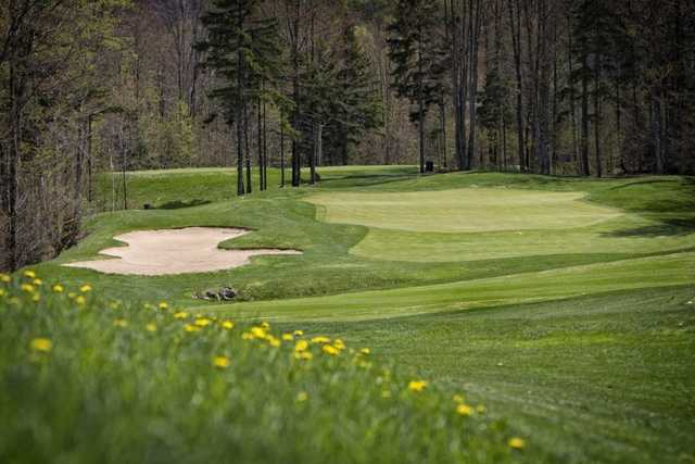 A view of hole #17 at Green Mountain National Golf Course.