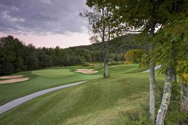 A view of the 8th green at Green Mountain National Golf Course.