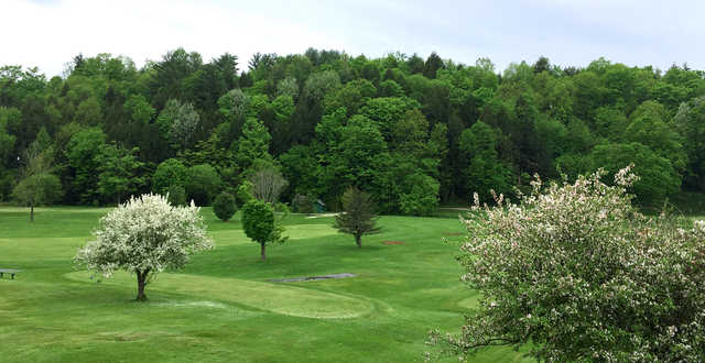 A spring day view from Neshobe Golf Club.