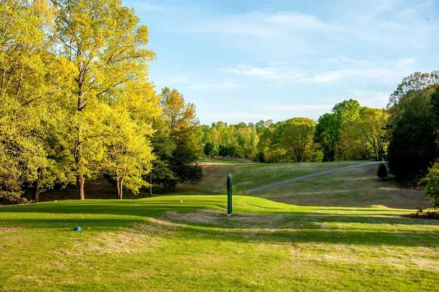 A view of tee #15 at Woodland Hills Golf and Country Club.