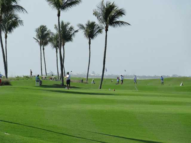 A view down from hole #9 towards #8 and #7 at Captiva Course from South Seas Island Resort.