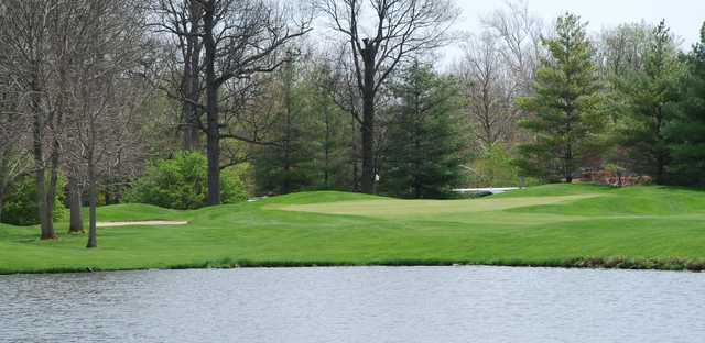 A view over the water from Players Club at Woodland Trails.
