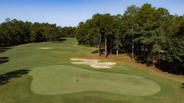 View of the 7th green on the Ibis Nine from Carolina National Golf Club.