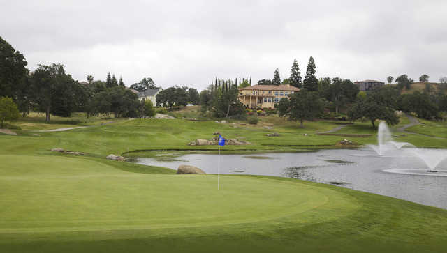A view of a green at Eagle Springs Golf & Country Club.