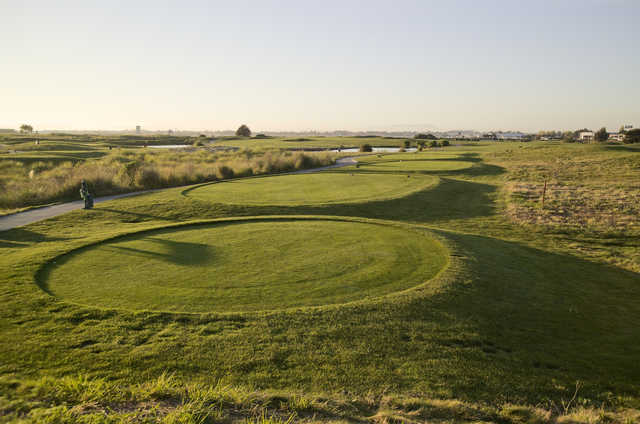 A view of a tee at The Metropolitan Golf Links.