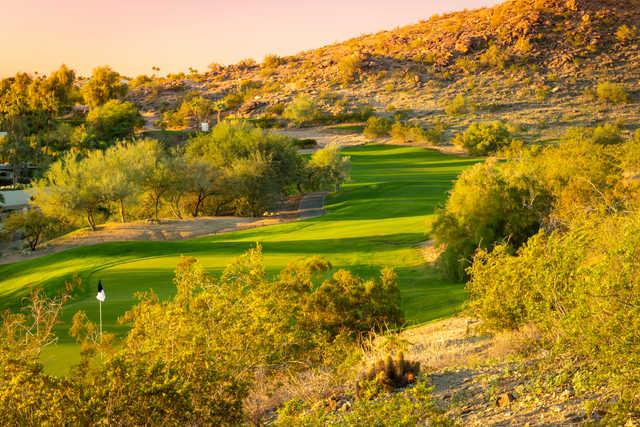 Looking back from a green at Arizona Grand Resort
