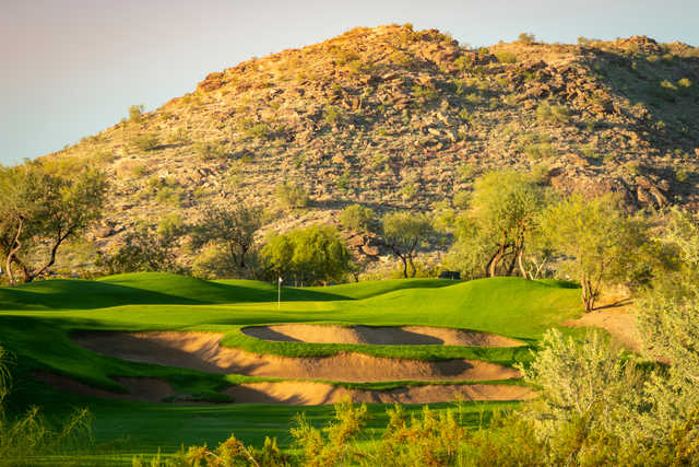 View of the 13th hole from Arizona Grand Resort.