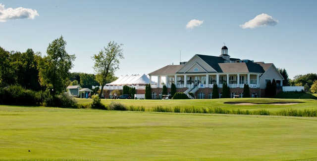 View of the clubhouse from Captain's Club at Woodfield.