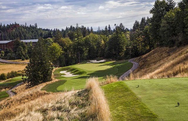 A view from tee #3 at Salish Cliffs Golf Club.