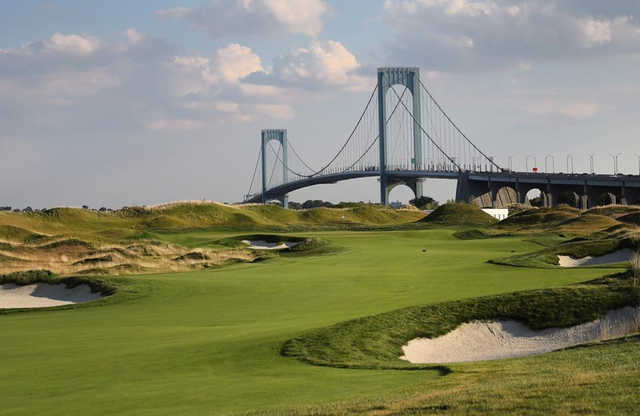 A view of fairway #9 from Trump Golf Links at Ferry Point.