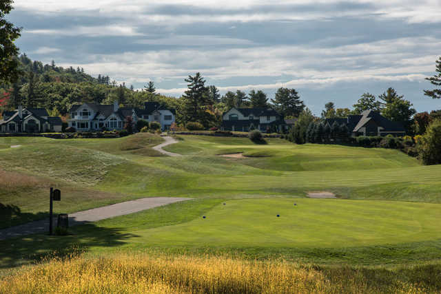 A view of a tee at Owl's Nest Golf Club.