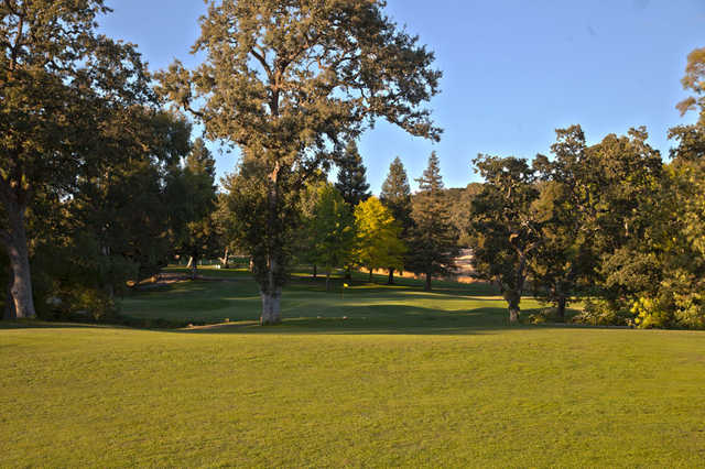 View of the 1st green at Bennett Valley Golf Course.