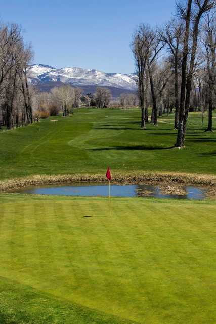 View of a green at Steamboat Golf Club