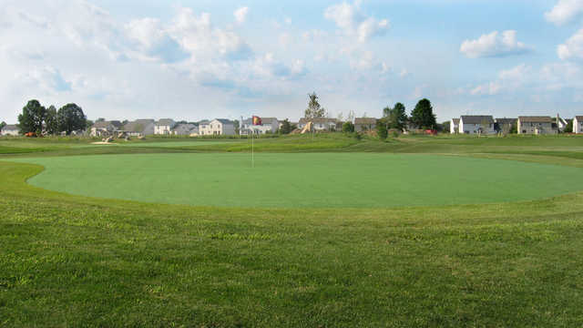 A view of green #9 at Little Bear Golf Club