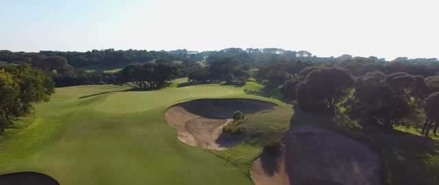 Aerial view of the 10th green at Cape Schanck Resort