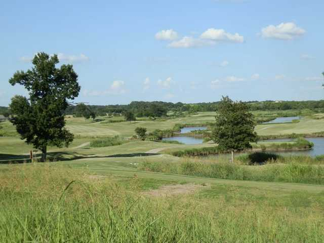 A view of fairway #1 at Legacy Ridge Country Club.