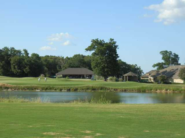 A view of the 18th green at Legacy Ridge Country Club.