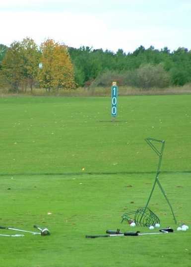 A view of the driving range at Deer Creek State Park Golf Course