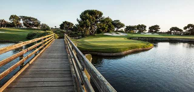 A view from a bridge at Monarch Beach Golf Links.