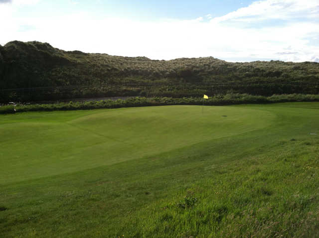 View of a green at Bushfoot Golf Club