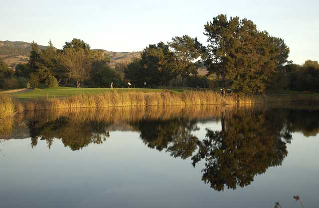 A view over the water from Napa Golf Course at Kennedy Park.