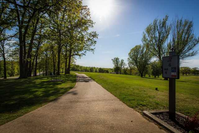 A view from tee #17 sign at Indian Rock Golf Club.