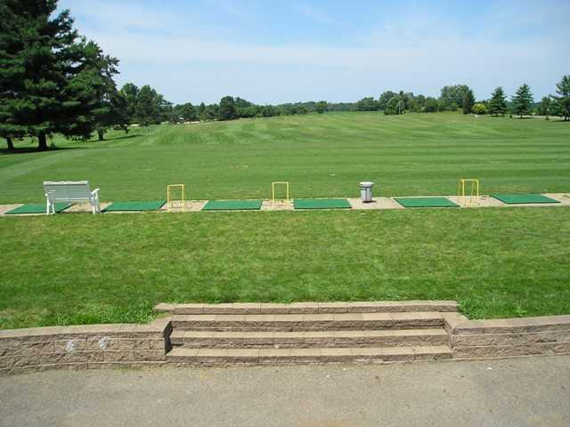 A view of the driving range at High Lands Golf Club